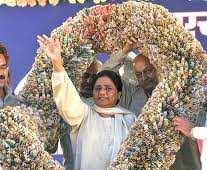 Conclusion: Manufacturing Charisma The role of Gender in Indian Politics Mayawati receiving a garland of