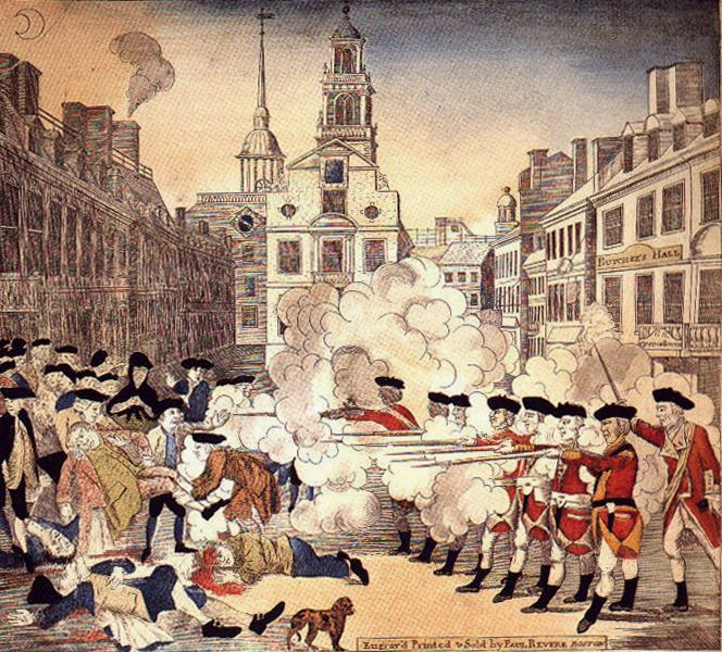 British troops fired on the Patriots,