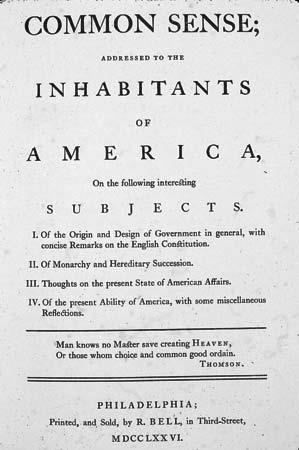 Common Sense (1776) Common Sense was a