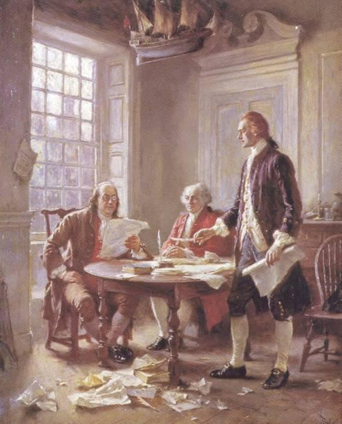 Declaration of Independence, continued Benjamin Franklin, John Adams, Roger Sherman, Robert Livingston and Thomas Jefferson were the appointed committee.