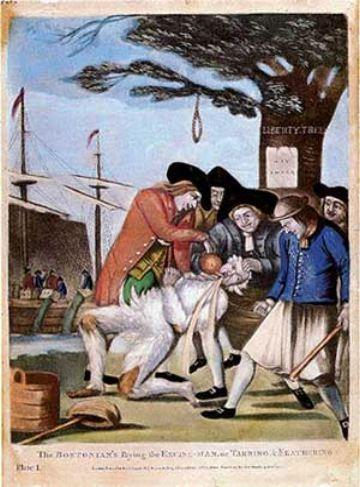 Colonists Begin to Protest During 1764 1765, the British enforced the Sugar Act, the Currency Act, the Quartering Act, and the Stamp Act to tax and put limitations on the colonists.