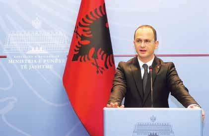 H.E Minister Ditmir Bushati inaugurating the Albanian Center of Excellence through employees, products and services, can potentially play a significant role in influencing human development.
