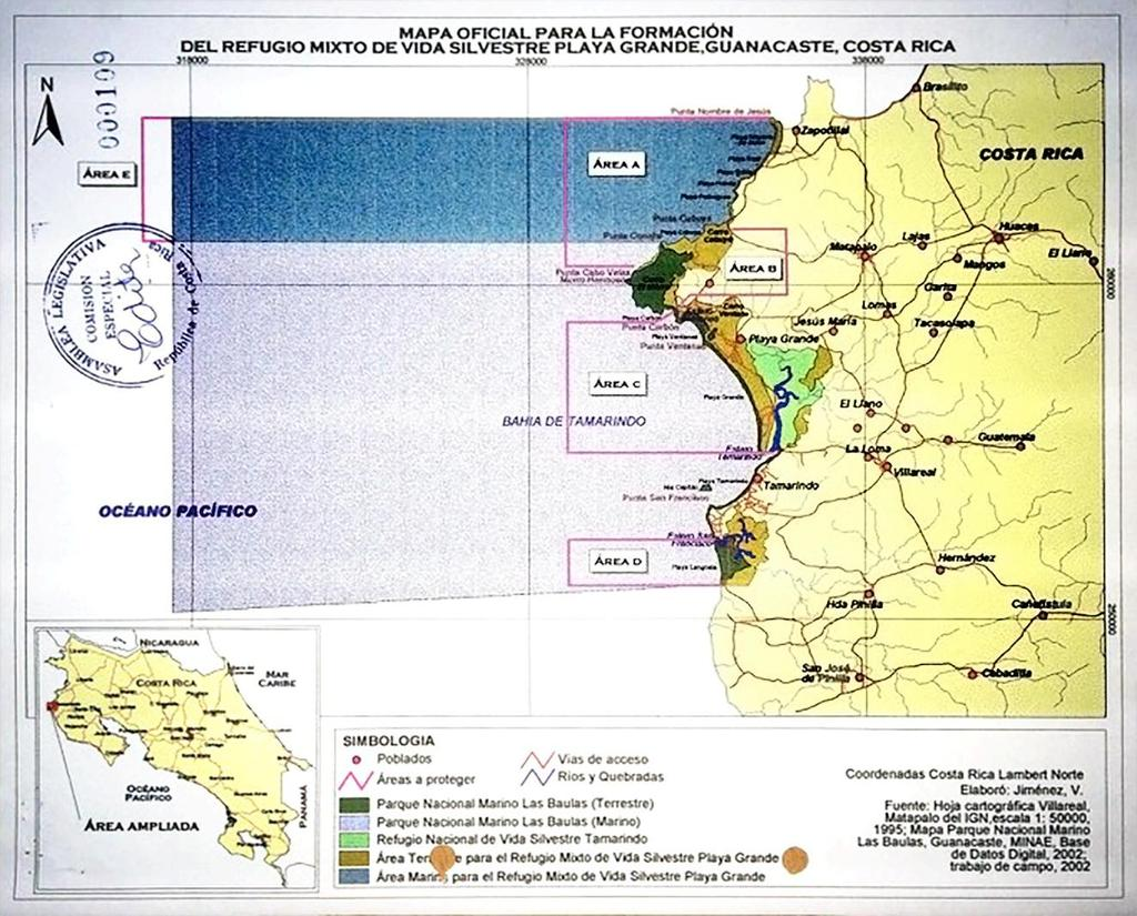 - 2 - state of affairs at the time investments were established, and it was on this basis that Claimants made their respective investments in Costa Rica. Figure 1: Official PNMB Map 2003 6.