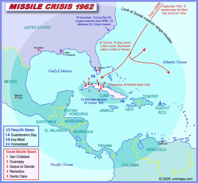 1962 Cuban Missile Crisis Most tense moment of