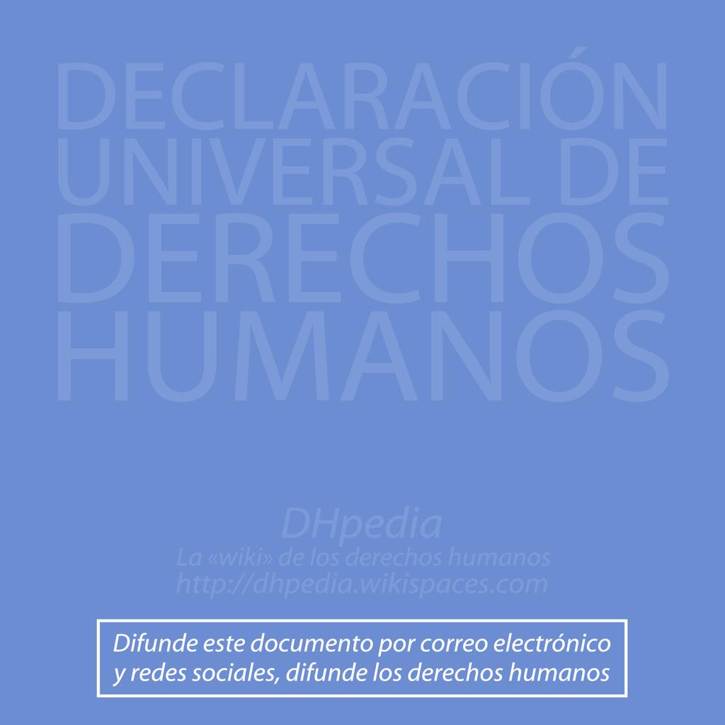 Articles 28 to 30 These articles establish the framework of protection necessary to ensure that everyone s human rights are respected.
