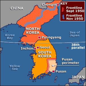 THE KOREAN WAR September 15 1950, MacArthur ordered daring invasion behind enemy lines at Inchon Took North Korean s by surprise In weeks had