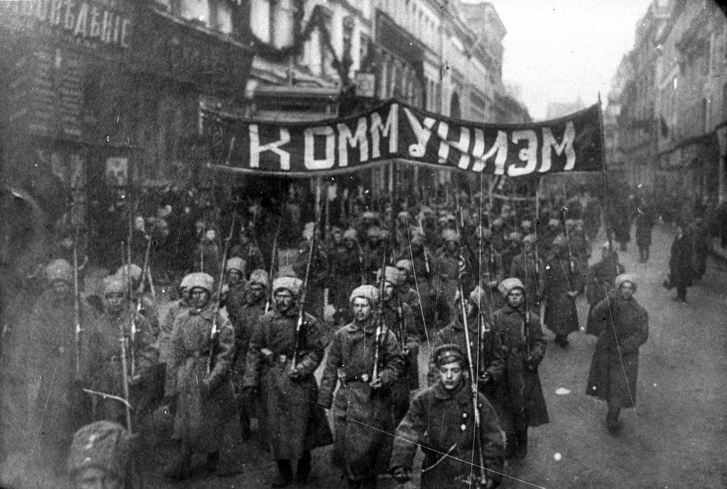 The October Revolution Armed soldiers