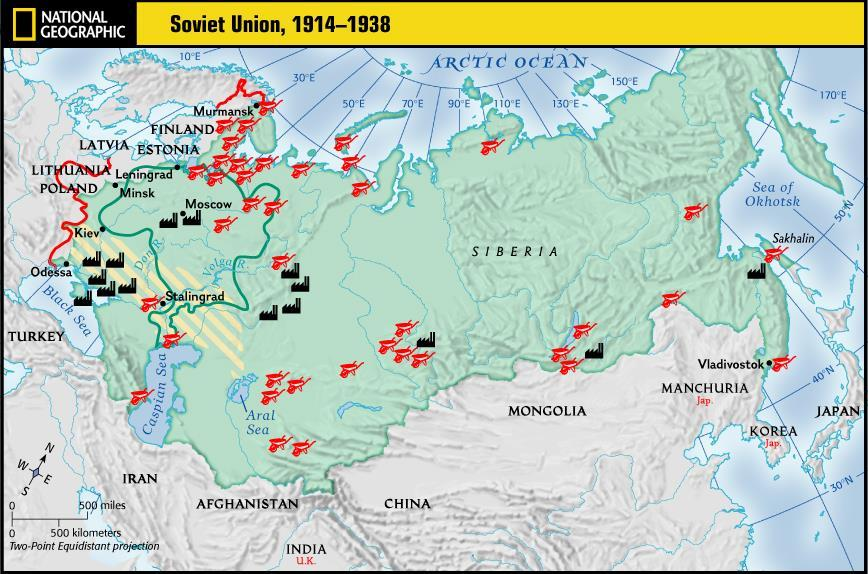 the end of WWI The Russian territories were renamed the Union of