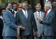 Following the eruption of violence after the December 2007 elections, the chairman of the AU, Ghana s President John Kufuor, mandated the Panel of Eminent African Personalities, led by the former UN