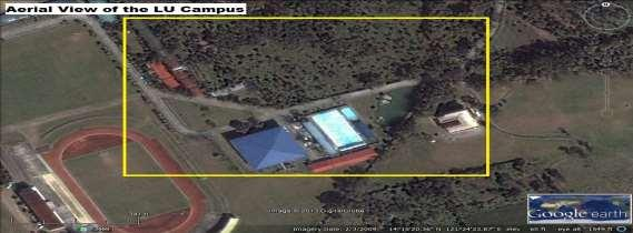 Figure 2. Aerial view of the LU Campus (generated by Google Maps, 2013). Organizational Structure: The LU has a distinct structure.