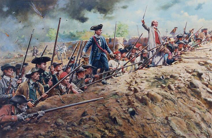 BATTLE OF BUNKER HILL June 1775 Battle of Bunker Hill British General Thomas Gage decided on an attack on Breed s Hill (near Boston)