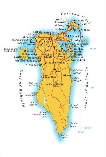 About Bahrain Bahrain is a small kingdom (765.3 km²), group of 33 islands located off the eastern coast of Saudi Arabia. Bahrain s population is currently around 1.