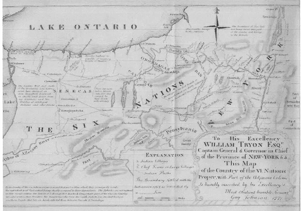 Map 1. Lands of the Six Nations of the Iroquois by 1771.