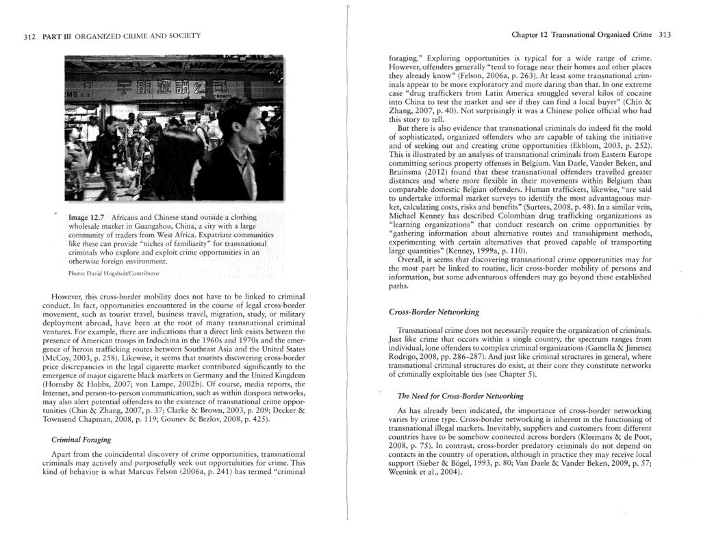 312 PART lll ORGANIZED CRIME AND SOCIETY Chapter 12 Transnational Organized Crime 313 Image 12.