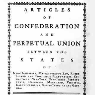 Government under Articles of Confederation In charge of foreign