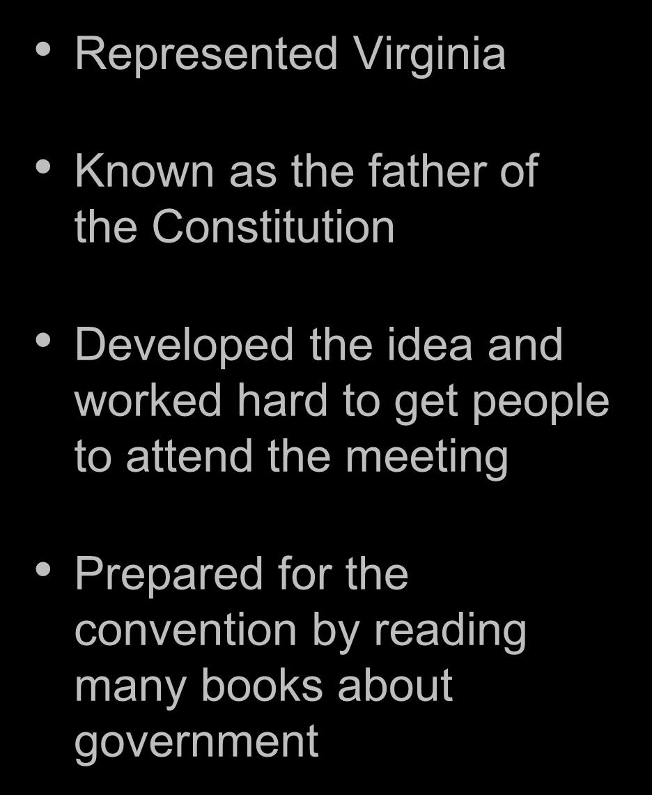 Constitution Developed the idea and