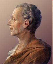 Baron de Montesquieu (1689-1755), French Philosopher - Montesquieu (Mon-Teh-Skew) felt the best way to guarantee that a government does not take away the natural rights of its citizens is to