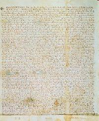 Magna Carta (The Great Charter)- 1215 1. Took power away from the King John of England and gave it to the nobles/ barons. 2.