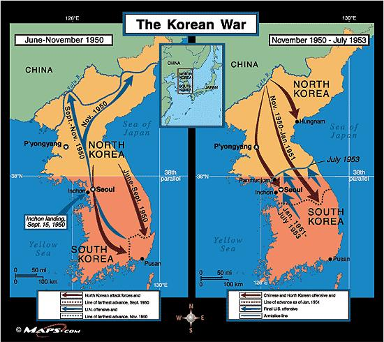 Korean Stalemate- war goes on for two more years