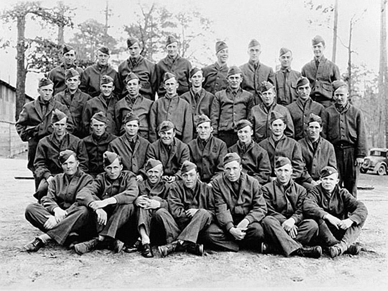 CIVILIAN CONSERVATION CORPS Civilian Conservation Corps members assigned to Camp Meriwether, in Meriwether County, are pictured in 1934.