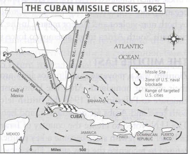 After President Kennedy ordered a naval blockade of Cuba and threatened and