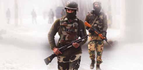 The operation to smoke out holed up terrorists in which police said one Army jawan and a policeman sustained injuries led to the clash with civilians after scores of protesters turned up at the
