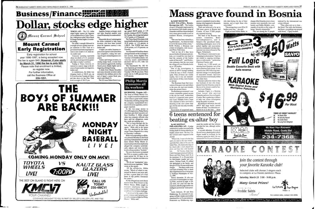 36-MARANAS VARETY NEWS AND VEWS-FRDAY-MARCH 22. 1996 Business /Finance= 1!