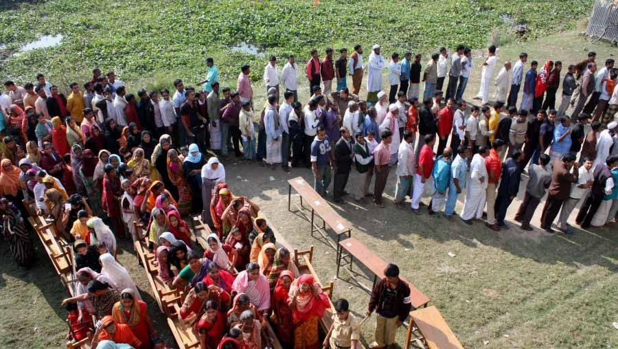 8 Elections in Bangladesh 2006-2009: Over 70 million voters turned out on election day. The high turnout was manifested by long lines of voters at polling stations on election day.