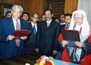 Elections in Bangladesh 2006-2009: 5 internally months earlier, 214 the announcement ended public speculation and uncertainty. The constitutionality of this timeframe was challenged in court.