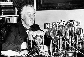 through fireside chats FDR used the radios purchased in the 1920 s to