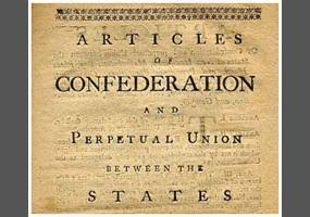 Establishing a Government Articles of Confederation Nation s first set of laws Limited central gov.