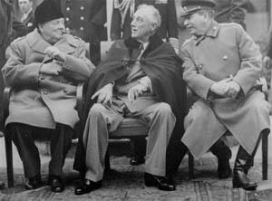 1. The Yalta Conference- Meeting of the Big Three (Stalin, Roosevelt, and Churchill) Met to discuss the plan of post-war Europe Partitioned