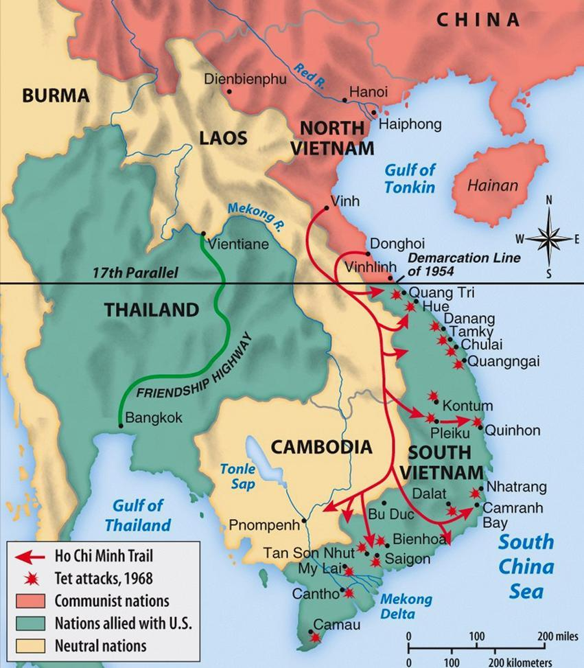 Vietnam War: 1965-1973 Fear of Communism created the Domino Theory the belief that if one