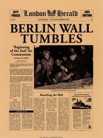 2. Tearing down the Berlin Wall Gorbachev let