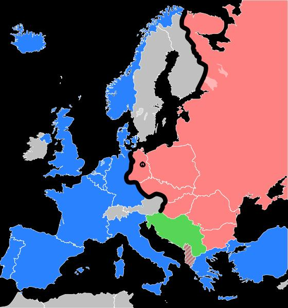 4. The Iron Curtain - Iron Curtain divided them also divided Democracy in Western Europe and a Communism in Eastern Europe - Western Europe and