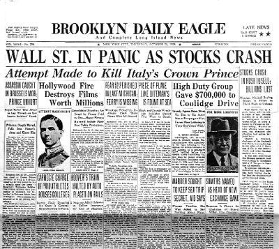 Black Thursday October 24, 1929 There were hints of an approaching economic slowdown People were concerned and sold their stocks