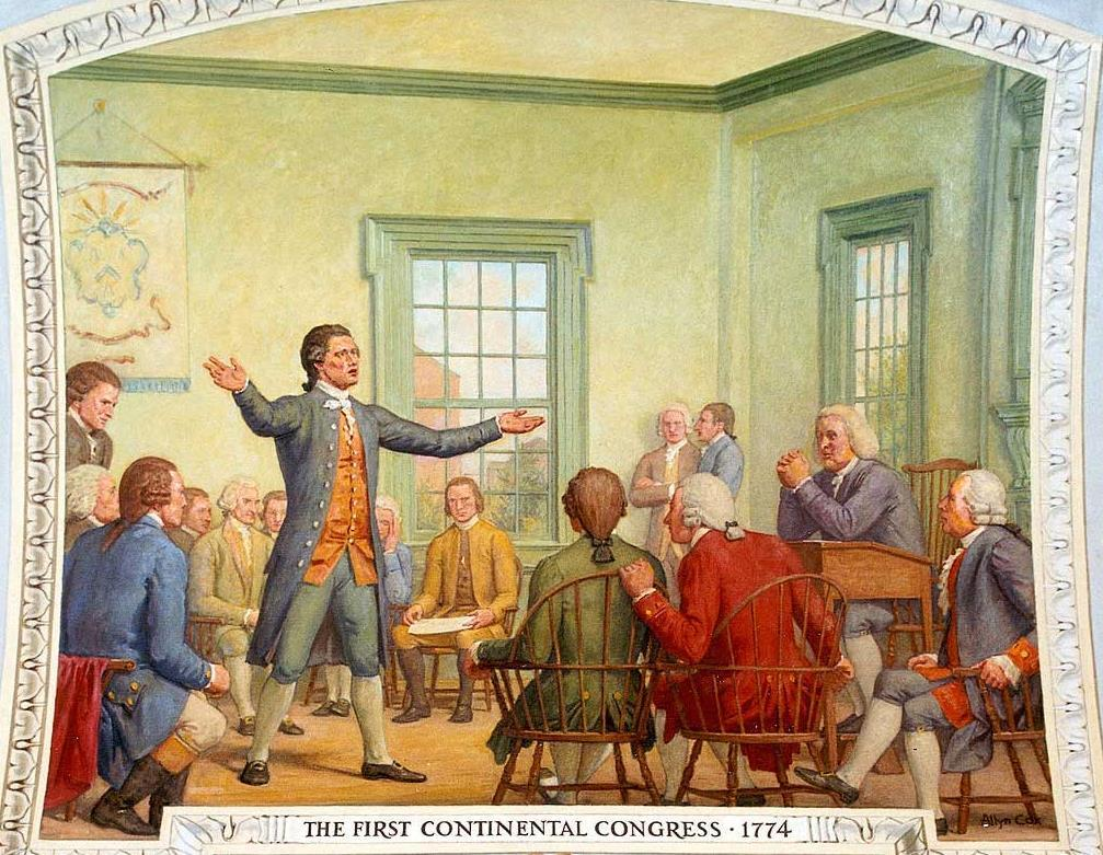 Before the Constitution: The Colonial and Revolutionary Experiences The First Continental Congress (1774)