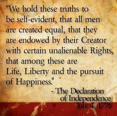 The Declaration of Independence (1776) Call to revolution that included the ideas of liberty, equality, individual rights, self-government, and lawful powers Philosophy of John Locke Inalienable