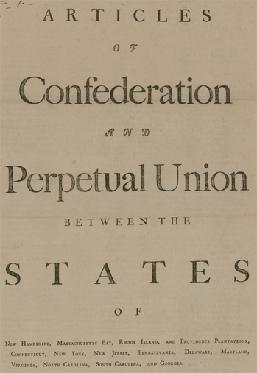 What are the Articles of Confederation This was the name of America s first constitution after the Revolutionary War.
