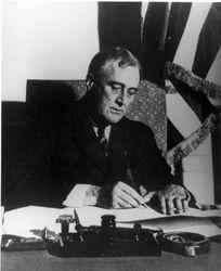 FDR announced a four-day bank holiday to begin on Monday, March 6. During that time, FDR promised, Congress would work on coming up with a plan to save the failing banking industry.