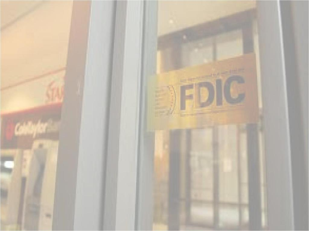 Federal Deposit Insurance Corporation (FDIC): (June 1933) passed as part a larger banking reform act.