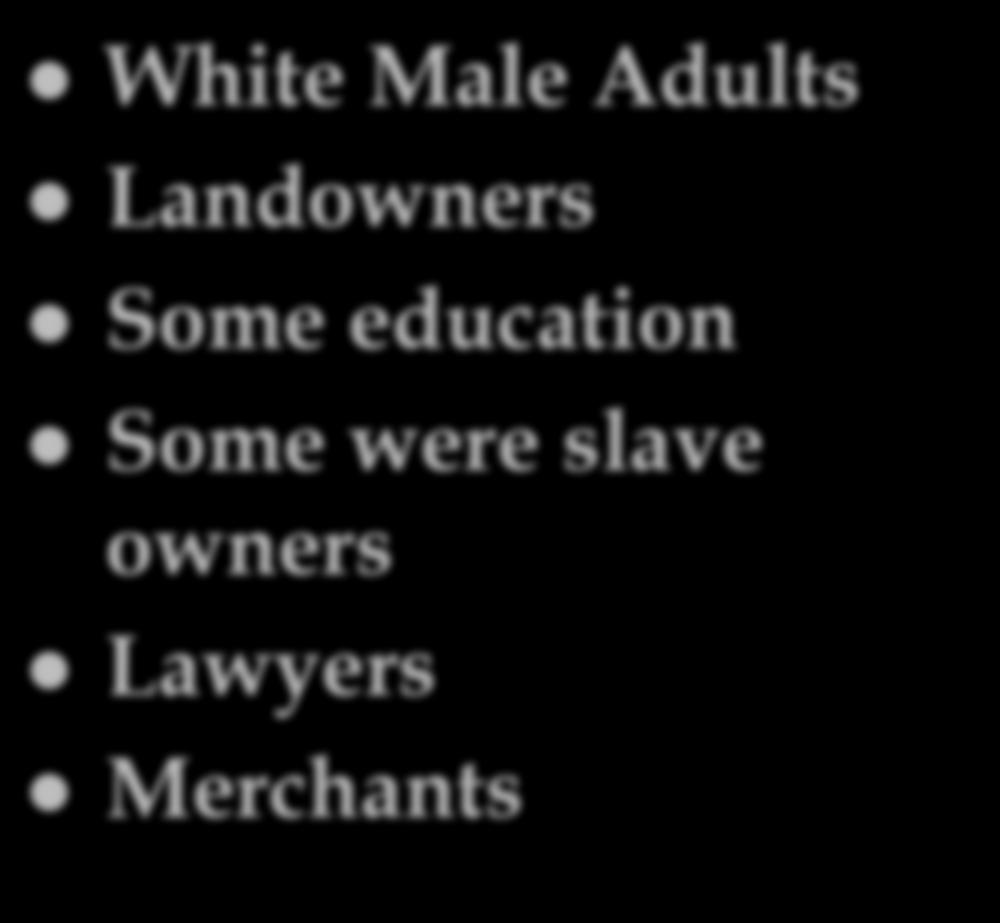 a Framer White Male Adults Landowners Some